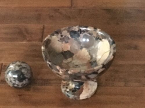 Marble Bowl and Grinding Ball