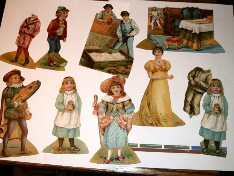 #9066,Nice Collection Die Cut Lion Coffee Victorian Trade Cds