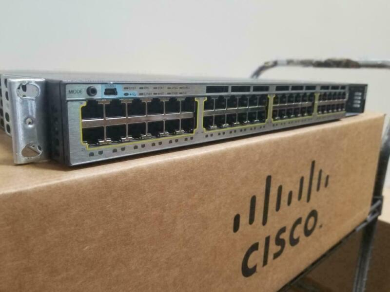 Cisco Ws-c3750x-48pf-s Switch Layer 3 - 48x 10/100/1000 Ethernet Poe+ Ports