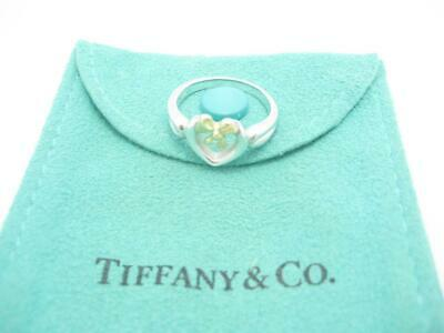 Tiffany Bow Ring (Tiffany & Co. Sterling Silver and Gold Heart Bow Ribbon Ring Size 6 1/4 -)