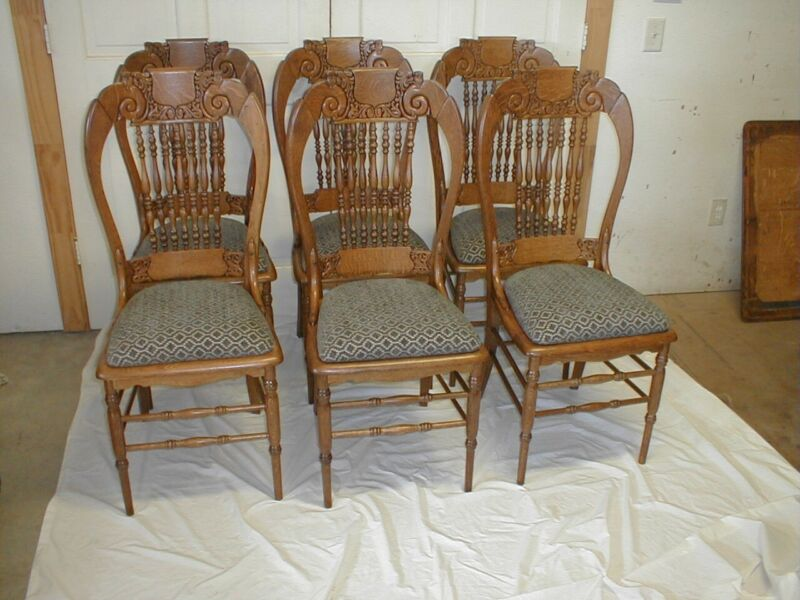 Oak Dining Chairs Set of 6 Victorian Fully Restored Excellent Condition