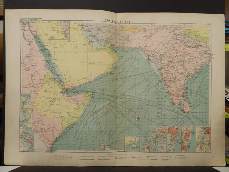 Mercantile Marine Atlas 1914 The Arabian Sea R4#75