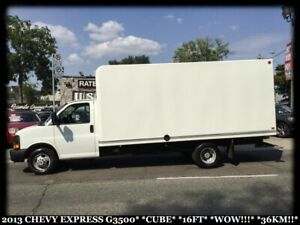 2013 Chevrolet Express 3500 CUBE*16FT*WOW ONLY 36KMS!!