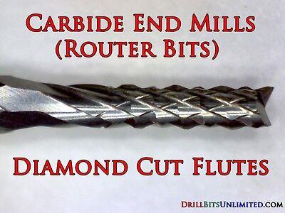 Router Bit 1.20mm .047 Solid Carbide  Shank 18 Pcb Cnc N