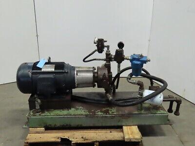 Fauver 20hp Hydraulic Power Unit 15 Gallon Wbosch 0 514 500 391 Pump