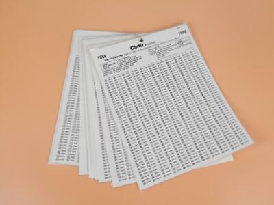 Curtis Locksmith Charts General Motors Key Codes Gm 1980 1981 1982 1983 1985