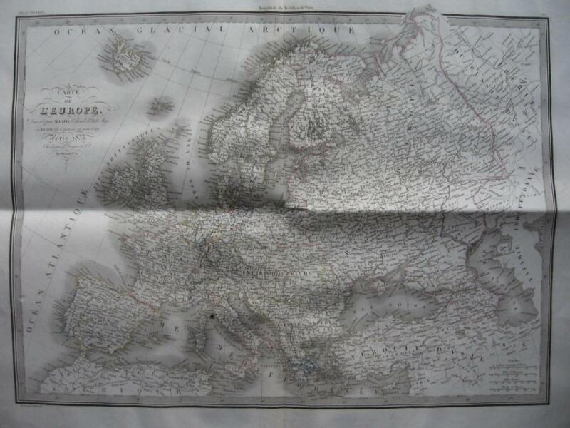 1833 - LAPIE - Large map EUROPE