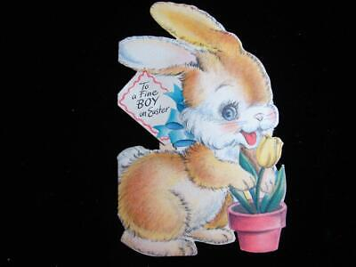 """VINTAGE """"HOPE YOU HAVE A WHIZ OF AN EASTER!!"""" EASTER GREETING CARD"""