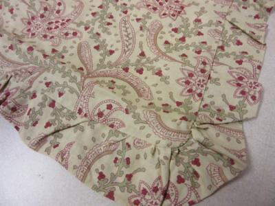 - JCPenney Home Collection Euro Sham Yellowy Cream w/Red Green Paisley Floral NEW!