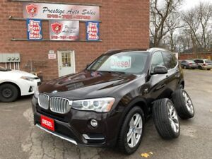 2015 BMW X3 DIESEL/4WD/ONE OWNER/NO ACCIDENT/WARRANTY INCL
