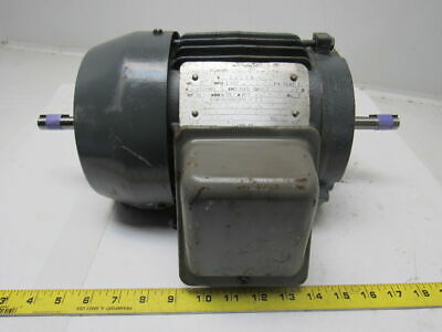 Horwath 2hp Double Shaft Electric Motor 3ph 230460v 145tz Frame 1800 Rpm