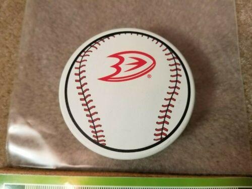 NHL ANAHEIM DUCKS MLB BASEBALL L.A.  ANGELS NIGHT HOCKEY PUCK. NEW