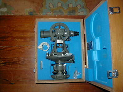 Teledyne Gurley 100a Transit With Box And Tripod Vintage
