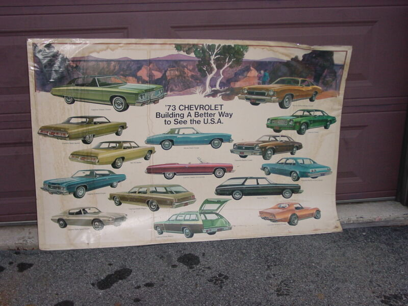 1973 Chevrolet Dealer Poster Big 3