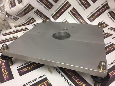 Huber Goniometer Mounting Base Wfeet 9x9 Stainless For Diffraction Used