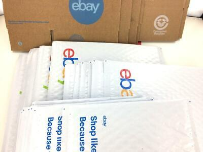 Ebay Shipping Supplies Kit Lot Boxes Padded Bubble Envelopes Mailers Tape -23 Ct