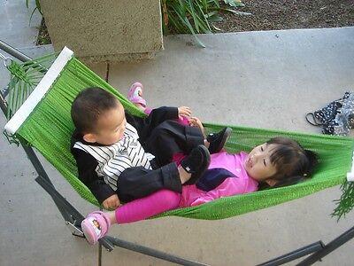 "indoor/outdoor kids Hammock swingbed w/medium duty metal frame for kid under 48"""