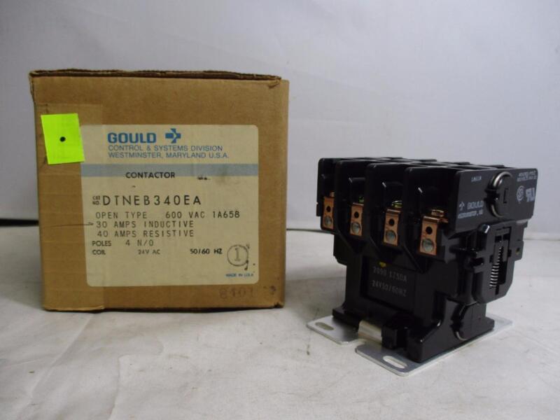 Gould Contactor DTNEB340EA 600VAC 1A658 30A-IND. 40A-RES. 24V 50/60Hz.