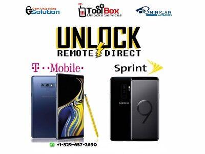 INSTANT! Samsung Galaxy S9/S9+ Plus (G960/G965U) SPRINT Remote Unlock Service