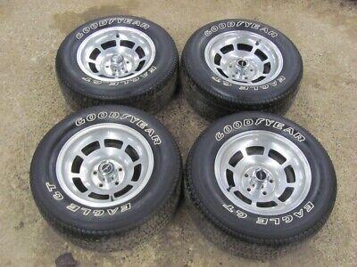 80 81 Corvette 15X8 Alloy Wheels Rims with Goodyear Eagle GT Tires Survivor