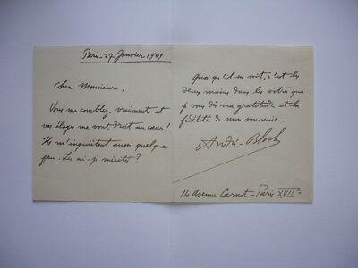 Lettre Autographe André BLOCH Opéra Compositeur Prix Rome Conservatoire Musicien, usado comprar usado  Enviando para Brazil