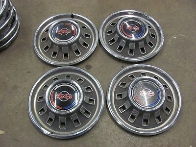 "Set of 4 1967 67 Chevy Impala SS 14"" Hubcaps Driver Shape Hub Caps"