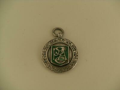Solid Silver Albert Chain Fob Medal Birmingham 1922