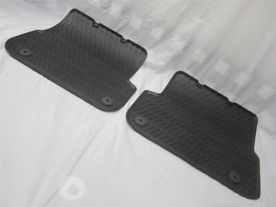 OEM 06-11 Audi A6 & Quattro Black All Weather Rubber Rear Floor Mats 2 piece Set