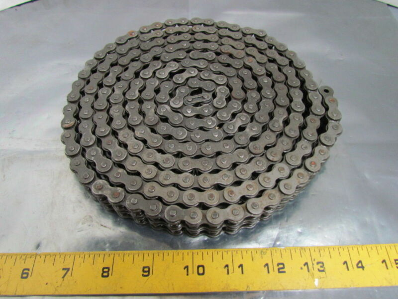 Acme 40-2 No 40 Double Strand Riveted Roller Chain 1/2 Pitch 10 Ft USA