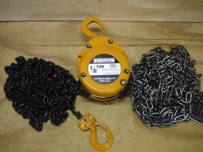 New Harrington Cf005-20 12 Ton 20 Ft Lift Manual Hand Chain Hoist Fast Ship
