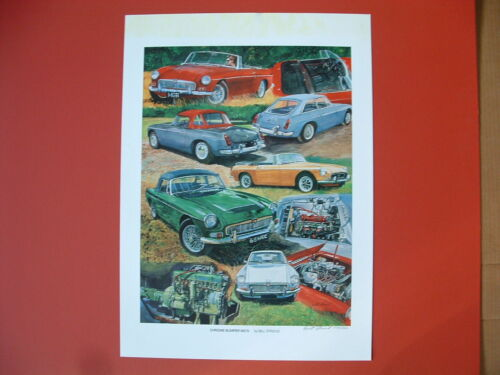 MG MGB MGC MGB-GT MGb-V8 MG British sports car art print