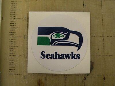 Vintage NFL Seahawks football logo sticker decal