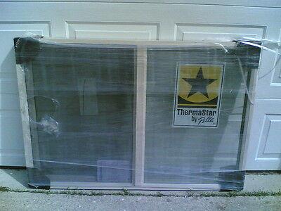 "BRAND NEW: Nice Almond-Color VINYL House SLIDER WINDOW 52""x36"""