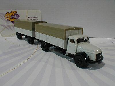 Brekina 85601 - Volvo N 88 Pritsche / Plane + Anhänger