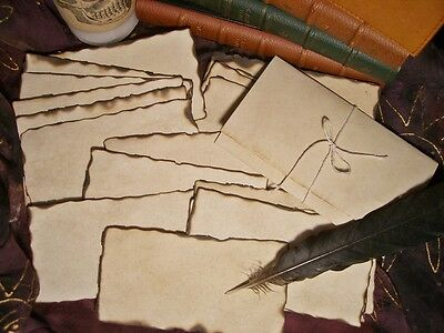 20 'PARCHMENT' PAPERS BURNED EDGES Spells-MESSAGE IN A BOTTLE-Halloween-Pirates](Halloween Spells)