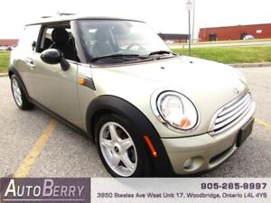 2009 Mini Cooper Hardtop 6 Speed Manual ***CERTIFIED ONE OWNER**
