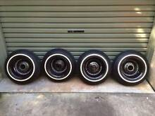 Chevrolet Chevy Ford OG Custom Black Wire Wheels + Tyres Lowrider Neutral Bay North Sydney Area Preview