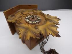 German Black Forest Cuckoo Clock Mfg. Co. w/ #24 Brass Movement Parts D696