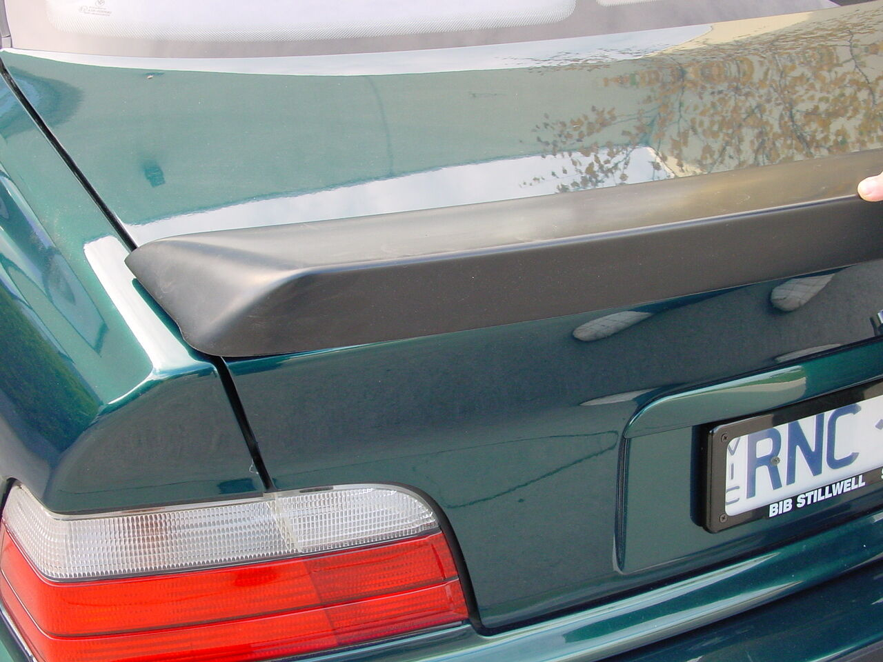 AC SCHNITZER BMW E Genuine Rear Boot Trunk Spoiler Sedan Lip Wing - E36 ac schnitzer spoiler
