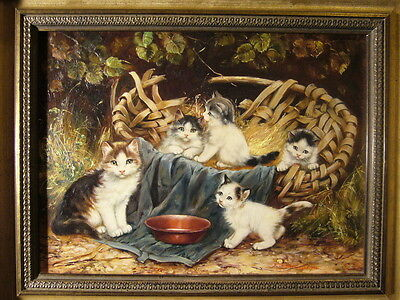 Katzenmalerin Inge Gruber-Böhm Wörthsee : Spielende Katzen Kitten Cat Kater NRW