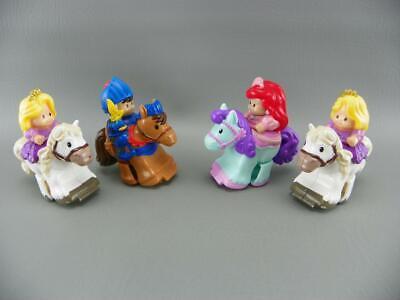 Fisher Price Little People KLIP KLOP Disney Princess Tangled Rapunzel Ariel Lot