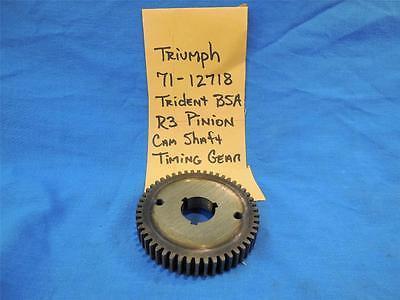 TRIUMPH 71 12718 NOS PINION CAM SHAFT TIMING GEAR R3 TRIDENT  BSA  NP