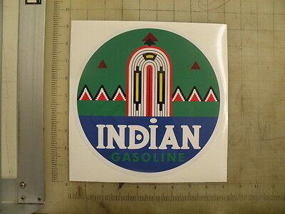 """Vintage Indian Gasoline sticker 9"""" diameter"""