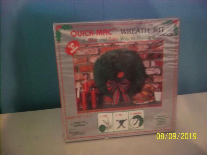NIP vintage quick-mac wreath kit  #1107  made in america