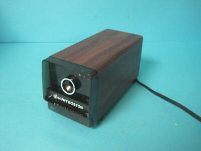 Awesome Vintage Hunt Electric Pencil Sharpener Model 17 Wood Grain Design Retro