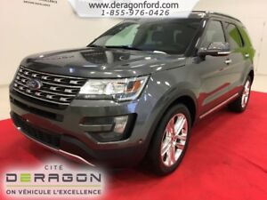 2016 Ford Explorer LIMITED AWD CAMERA TOIT PANO MAGS 20P NAVIGAT