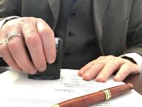 $25 Commissioner of Oaths (like a Notary) Fredericton