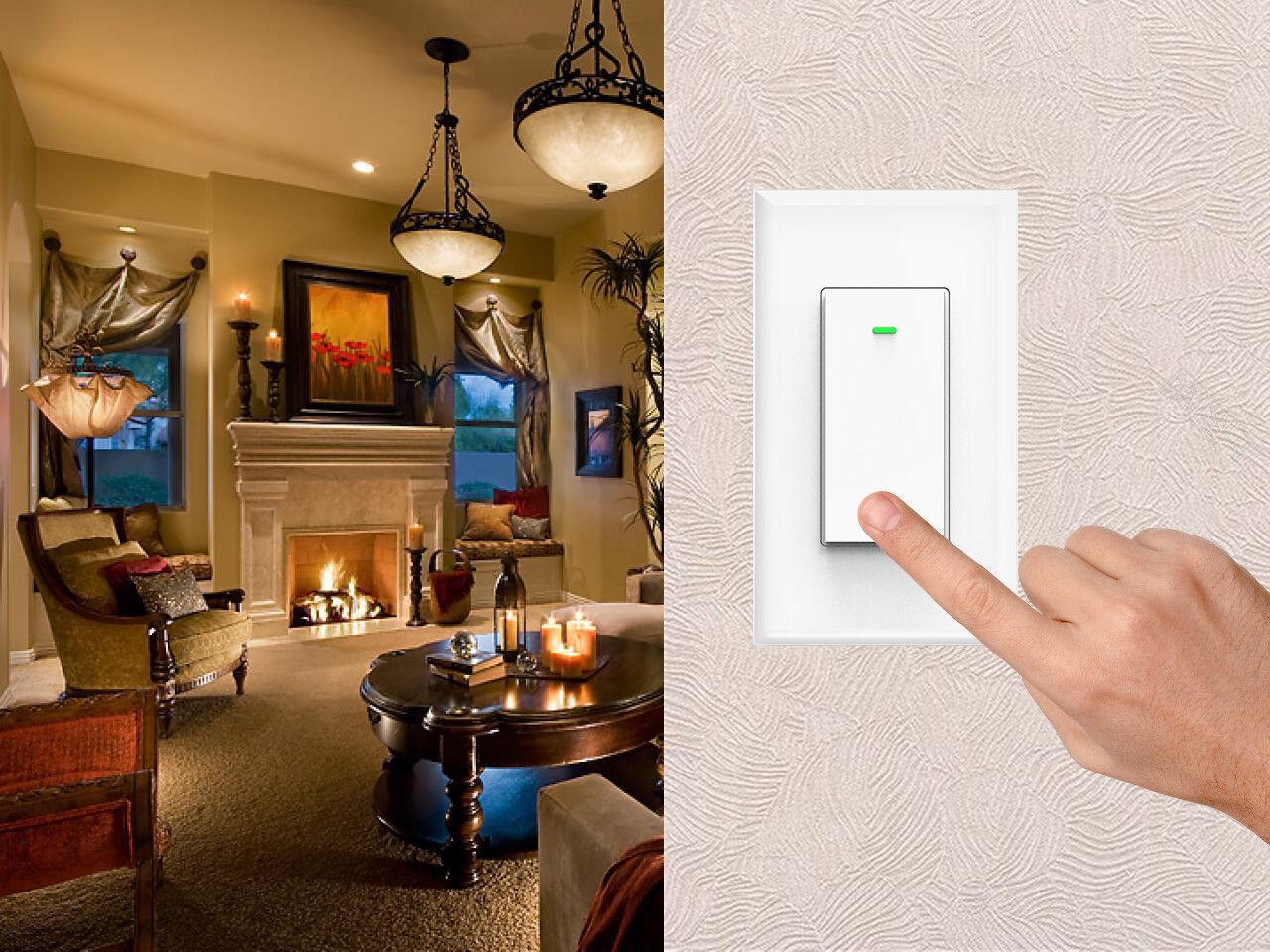 как выглядит Smart WIFI Light Switch Remote Alexa Google Home Voice Control Smart Life 2pack фото