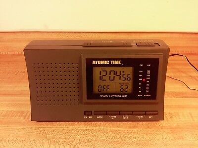 Atomic Time Radio Controlled Clock Radio Model RCL-19 Tested Working