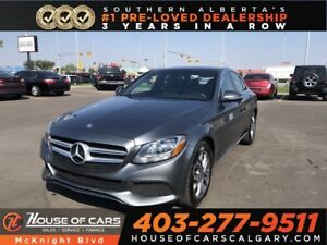 2017 Mercedes-Benz C-Class C 300 / Leather / Sunroof / Back Up C